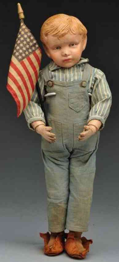 Schoenhut boy Character doll with carved hair