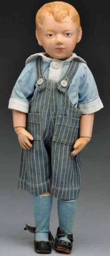 Schoenhut Charakterpuppe Junge aus Holz
