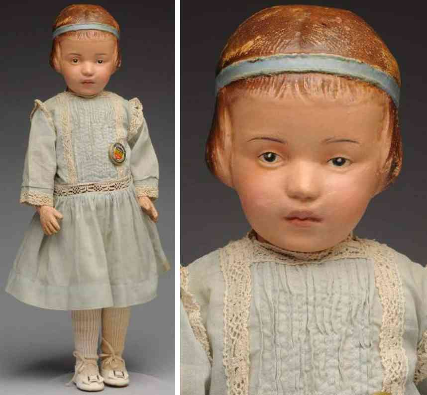 schoenhut  character child doll wood carved
