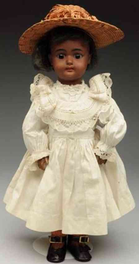 simon & halbig 1078 brown bisque socket head doll