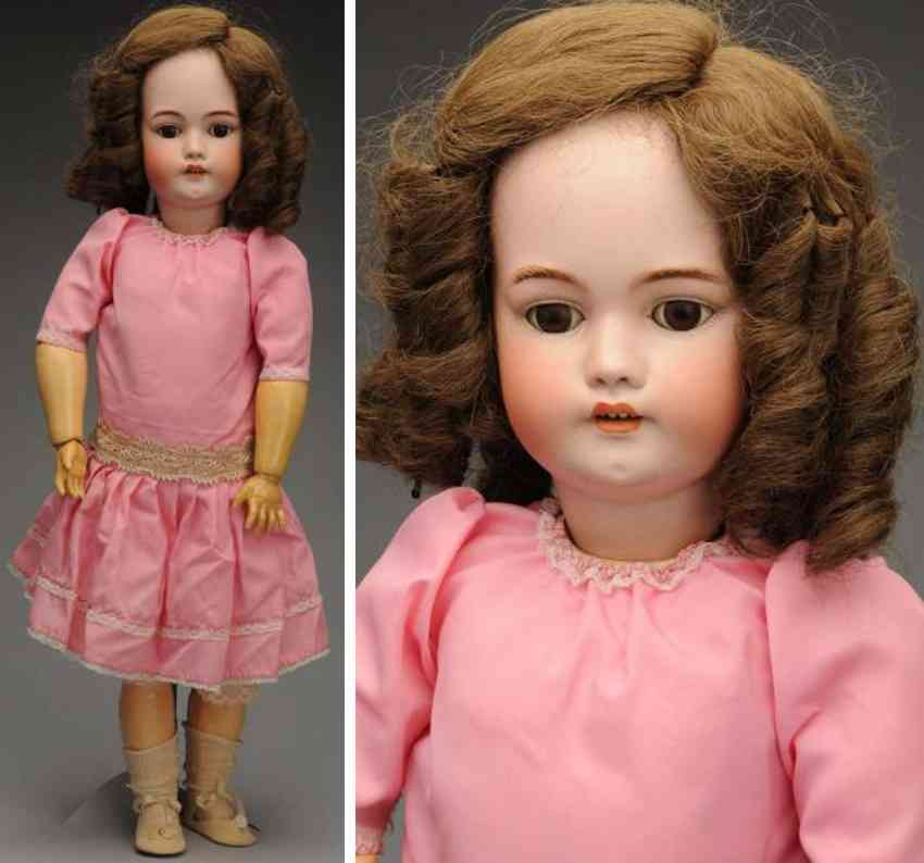 simon & halbig 1079 13 1/2 bisque socket head child doll