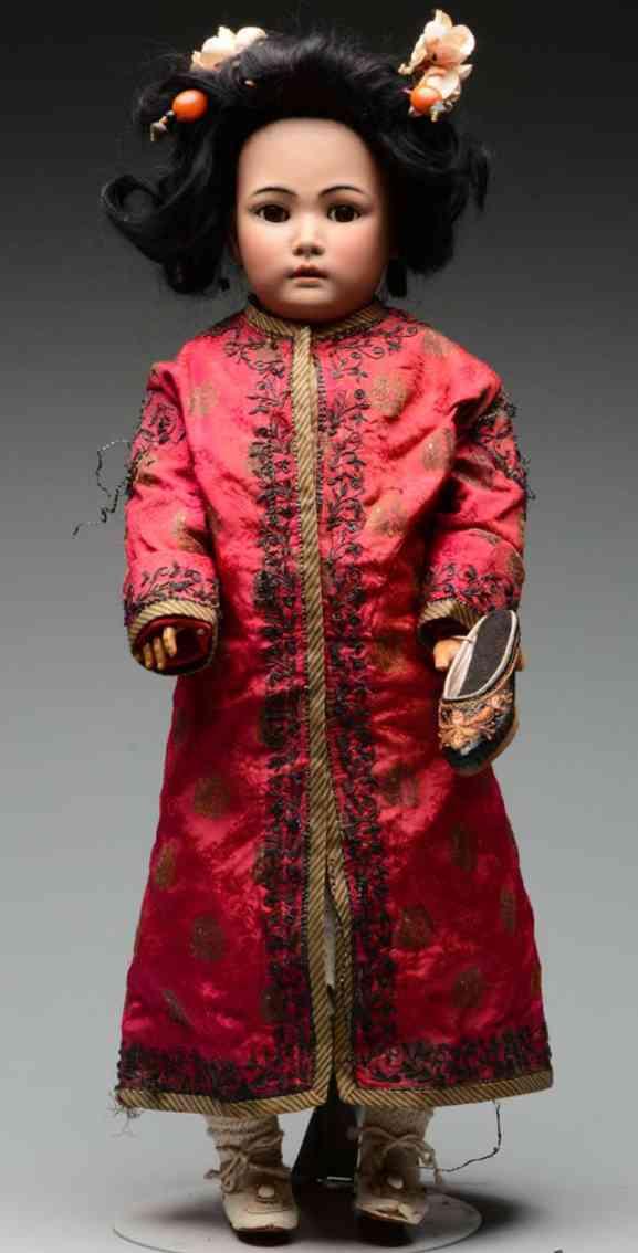 simon & halbig 1329 63,5 german bisque socket head oriental doll