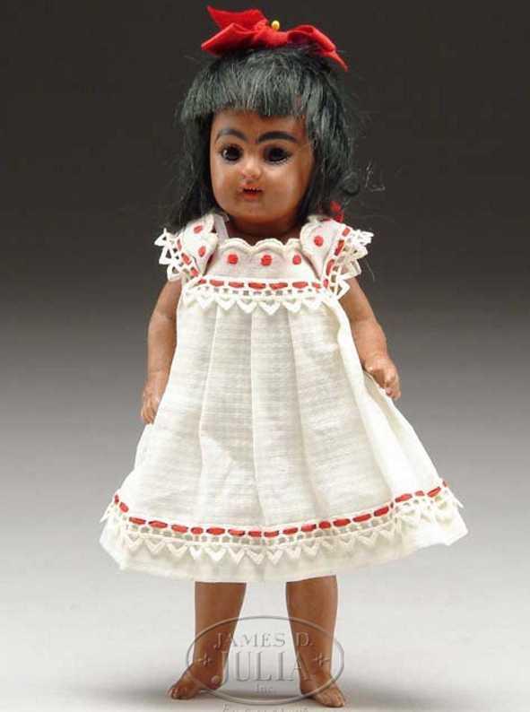simon & halbig 886 all black bisque doll