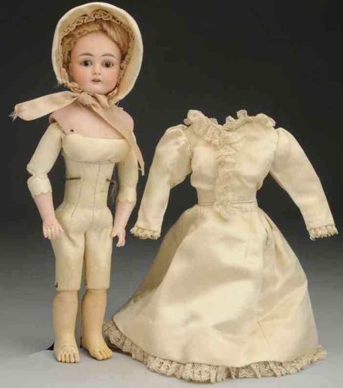 simon & halbig 921 bisque socket head lady doll on shoulder plate