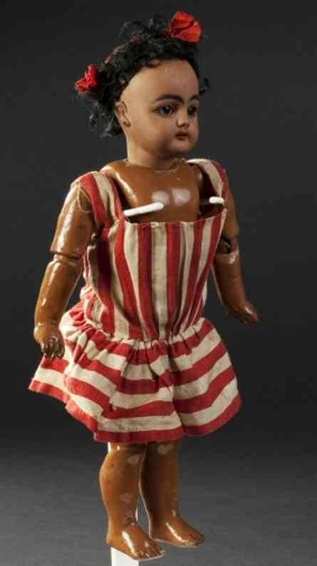 simon & halbig 949 35 (29) dolls mulatto doll, 949 mould, sleeping eyes, open mouth, fully jo