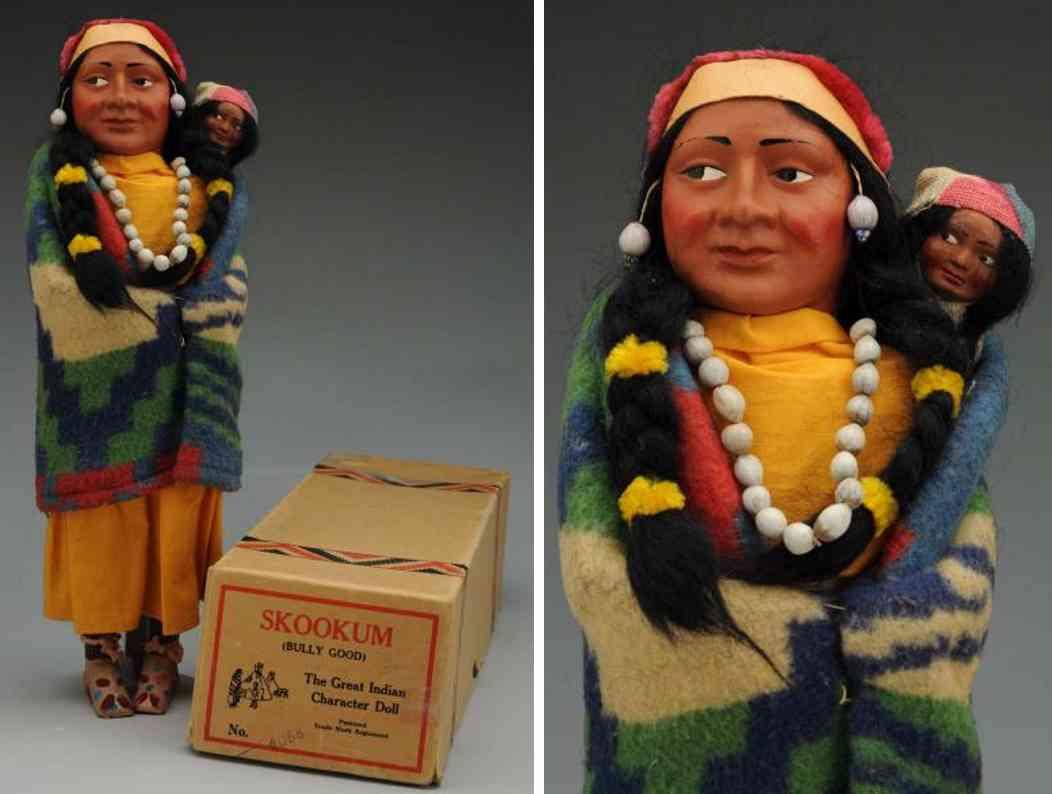 skookum 4088  indianerin kopf aus masse
