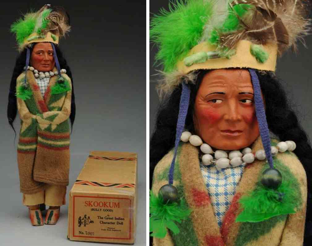 skookum 7067 brave indian with composition molded head