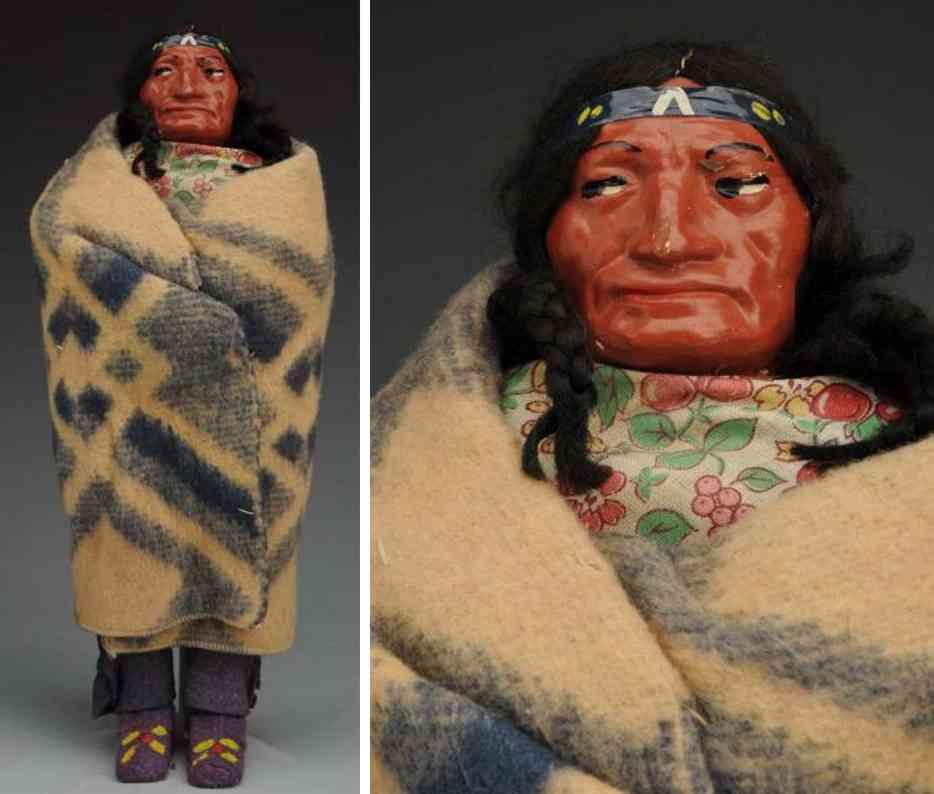 skookum indianer mit geformten kopf aus masse