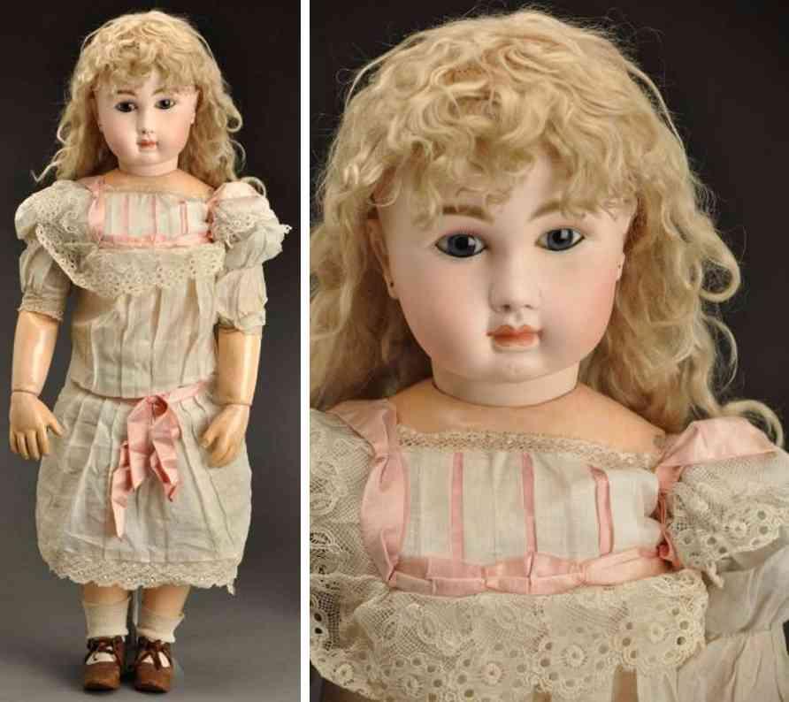 steiner jules nicholas A 7 bisque socket head child doll