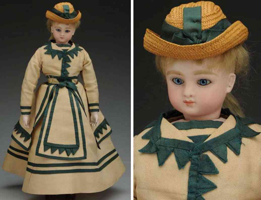 steiner jules nicholas c 3/0 bisque socket head fashion poupee doll shoulder plate