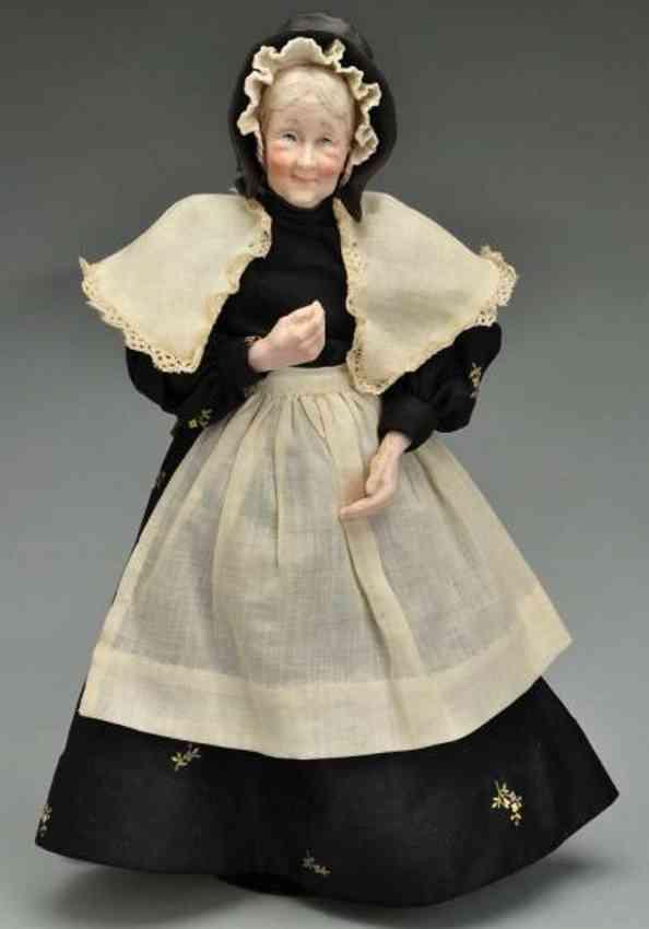 Thompson Martha lady Porzellancharakterkopfpuppe ältere Dame