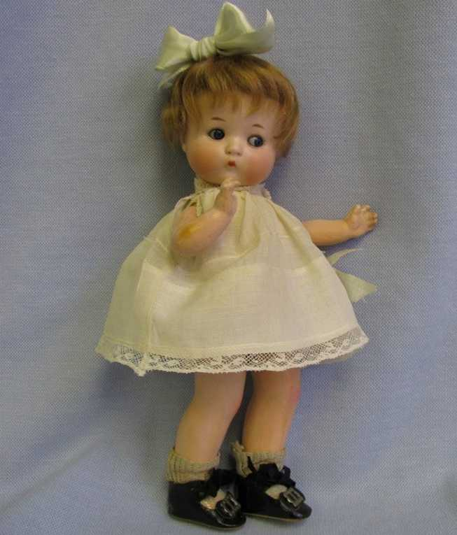 A 310/50  M Fired Bisque Doll Just Me GOOGLY