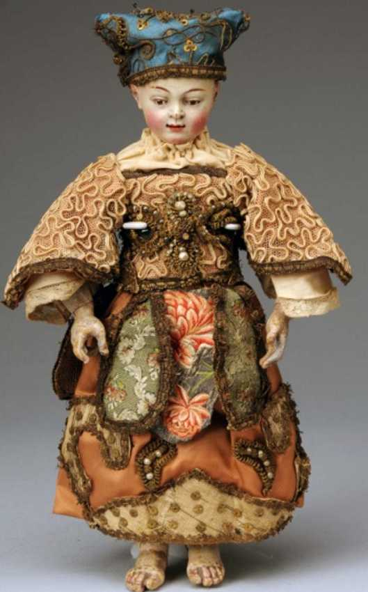 Puppe Kirchenfigur aus Holz Christuskind