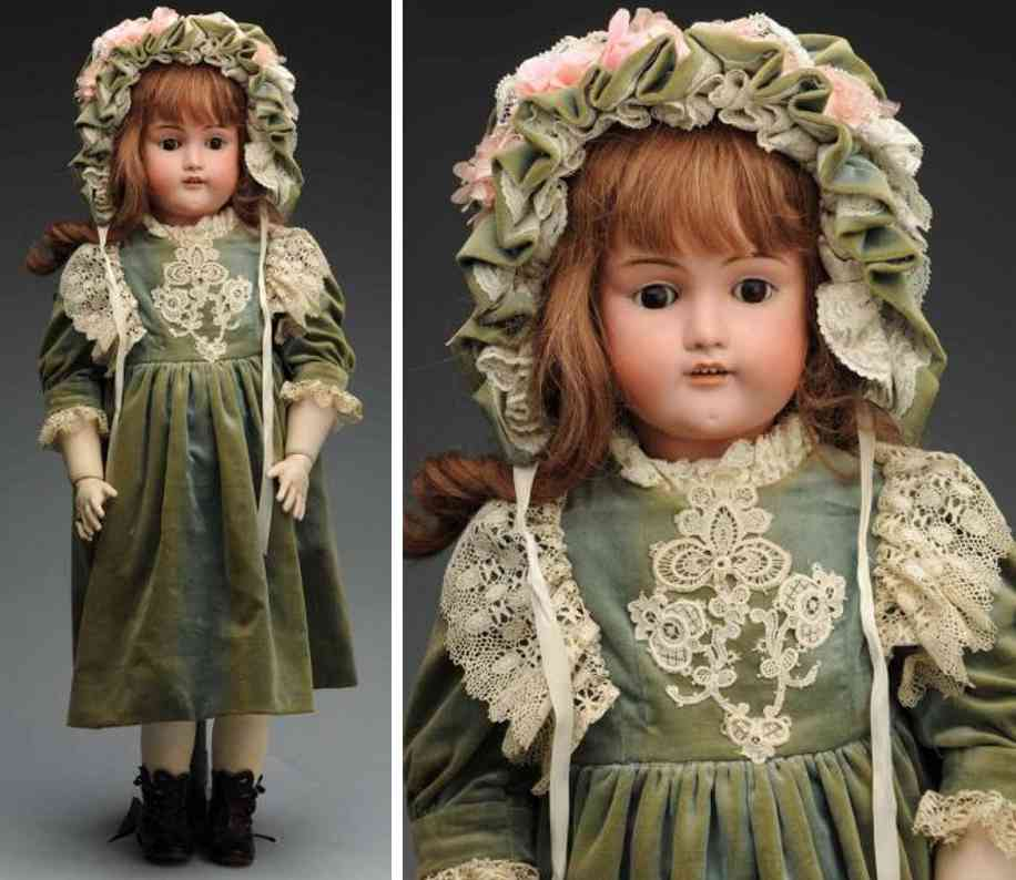 wislizenus adolf aw 104 14 1/4 bisque socket head child doll