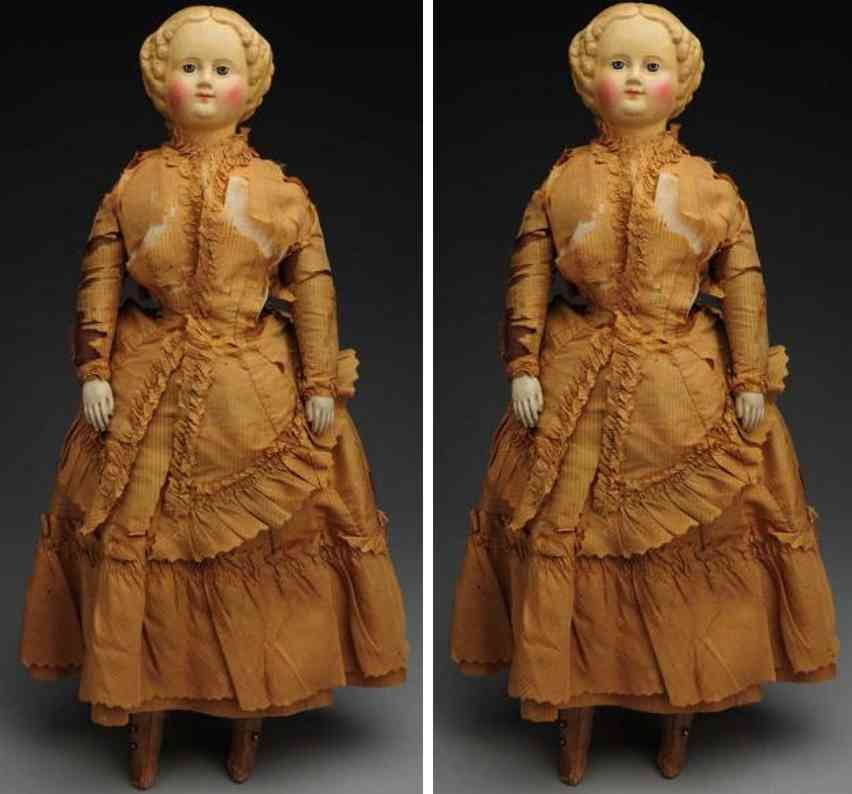 muller & strasburger ms superior papier-mâché lady doll