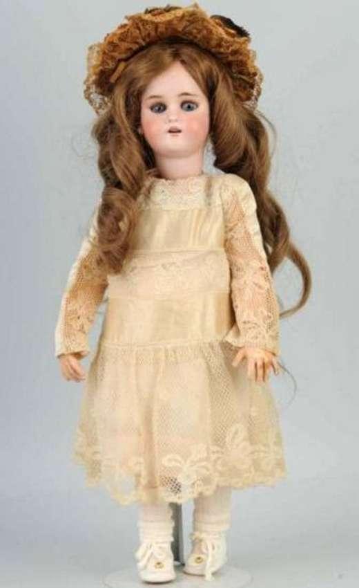 Rouillet & Decamps 1078 Mechanische Puppe mit Porzellankop
