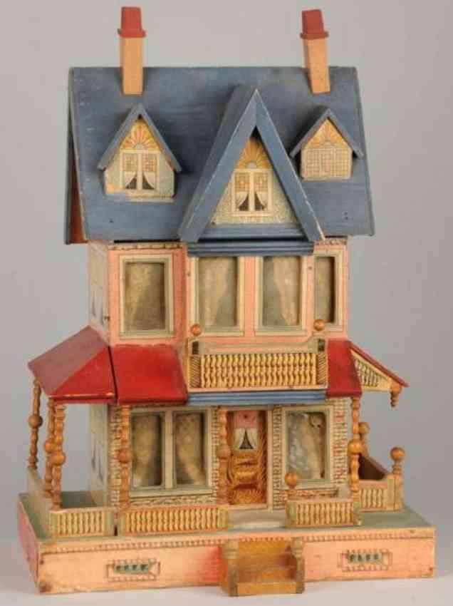 bliss rufus puppenhaus blaues dach giebel