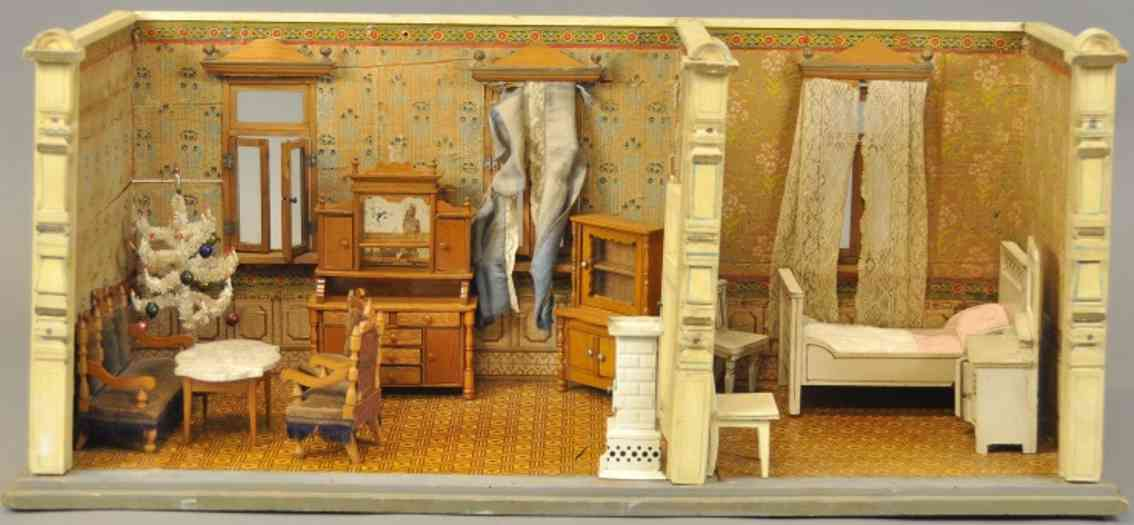gottschalk moritz puppenhaus wohnzimmer schlafzimmer