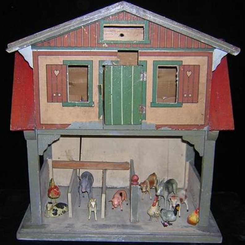 gottschalk moritz 5874 doll house three-level red-roof