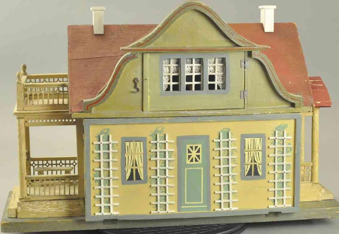 gottschalk moritz puppenhaus puppenhaus mit rotem dach und garten