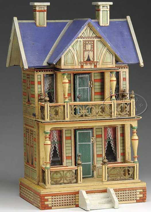 gottschalk moritz puppenhaus mit blauem dach