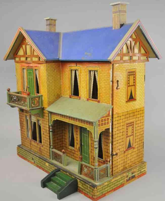 gottschalk moritz doll house blue roof dollhouse