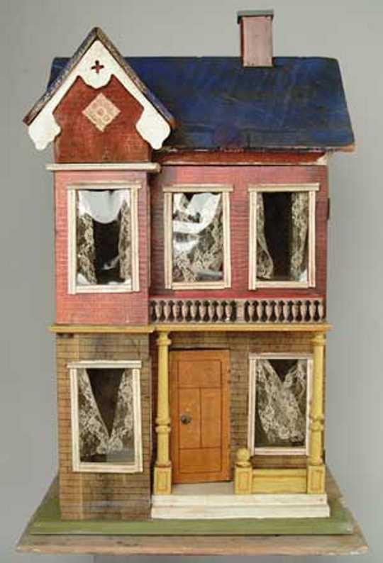 gottschalk moritz blue roof doll house two story