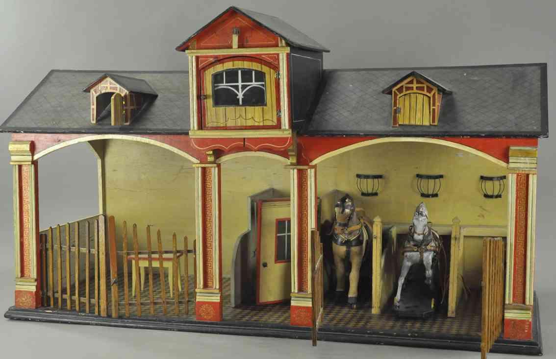 hacker christian puppenhaus stall mit perden wagem jei