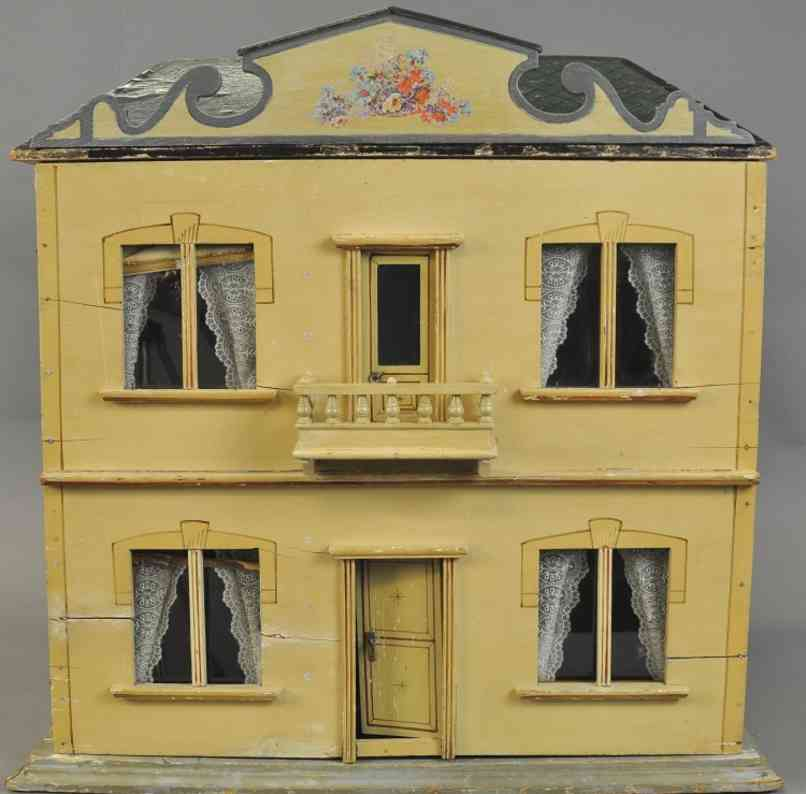 hacker christian creamy yellow dollhouse four rooms