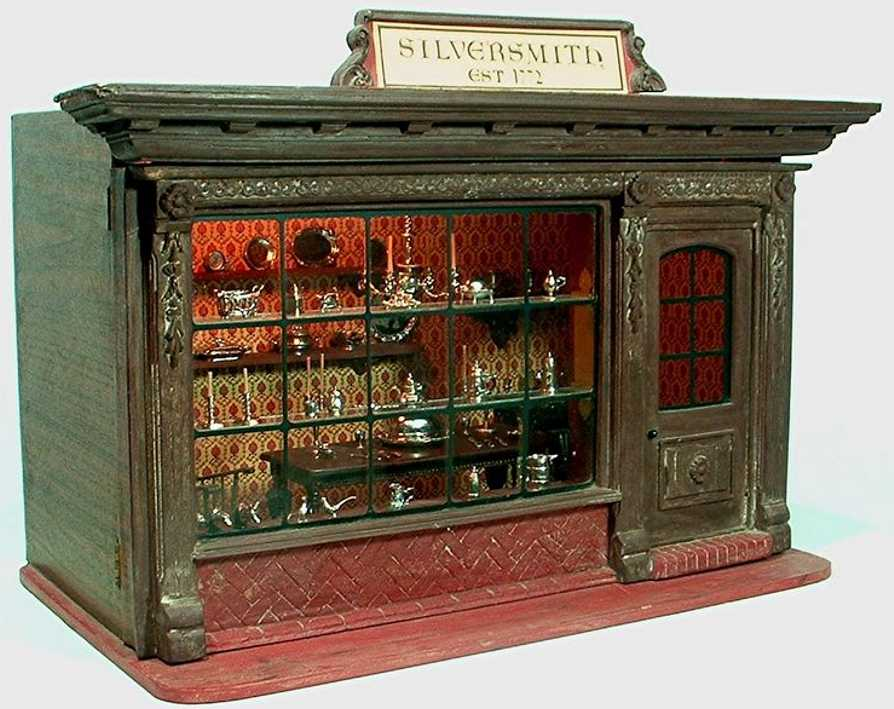kupjack eugene doll house 1/12th scale lighted 18th century silversmith shop room box