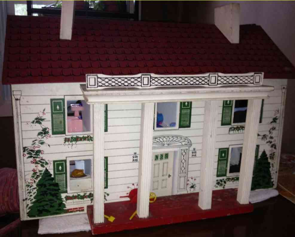 rich toys inc colonial style dollhouse with furnishings
