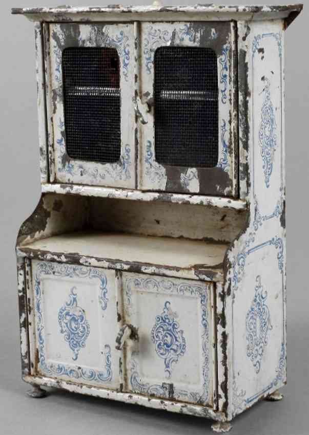 bing dollhouse accessories dolls  kitchen cupboard white blue buffet fly screens