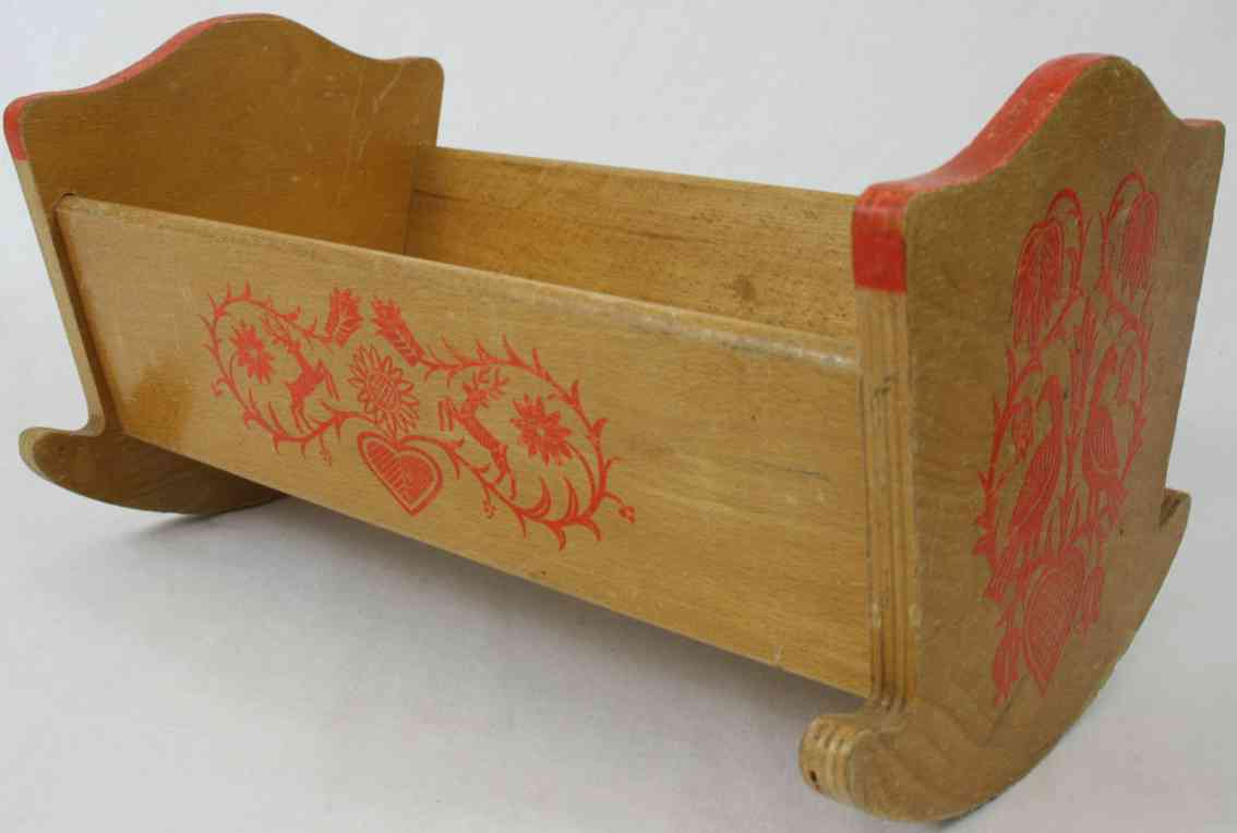 Habermaass 203/1 Wooden doll cradle