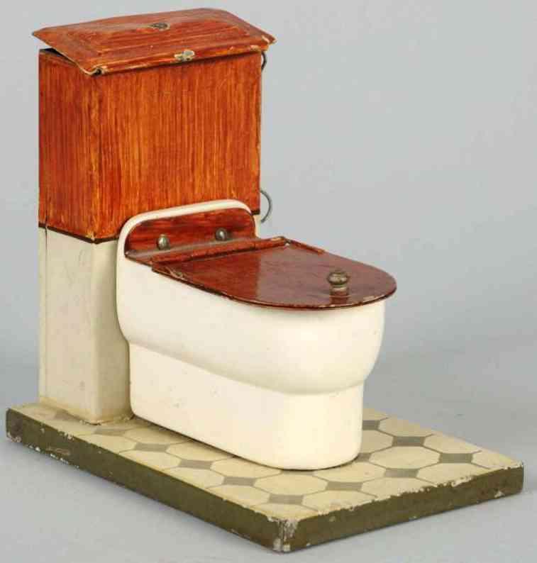 maerklin 8612 toilette aus blech und porzellan