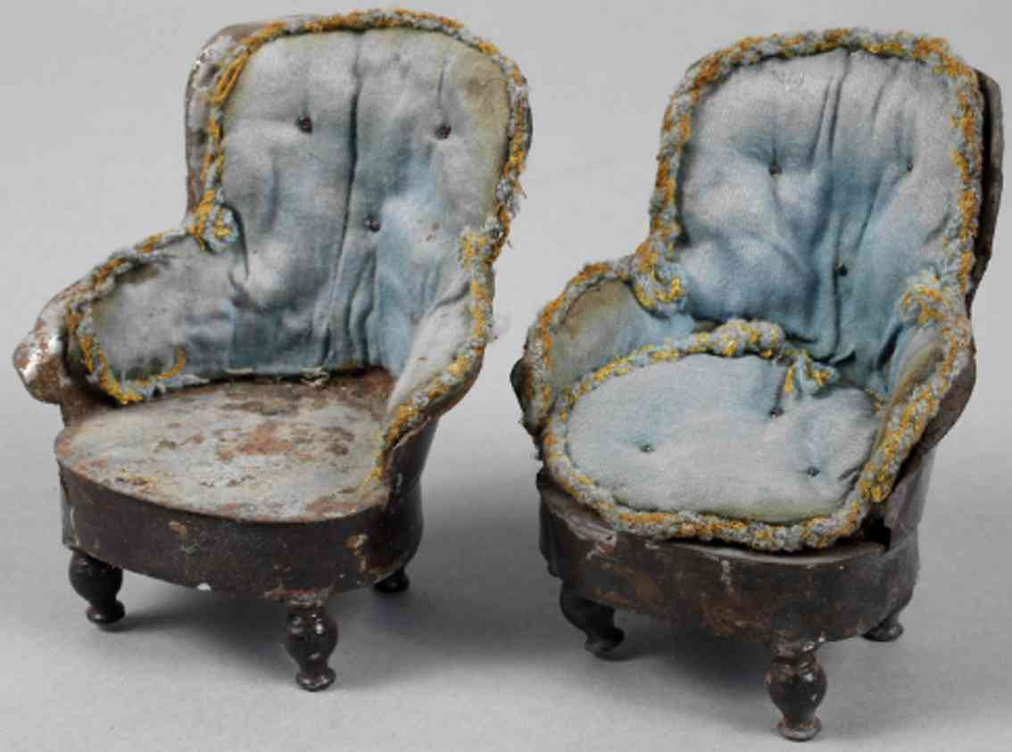 rock & graner one pair of armchairs for a dollhouse