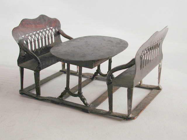 Rock & Graner Blechtisch mit zwei Bänken