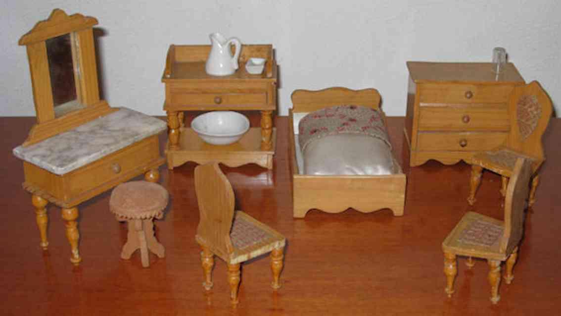 schneegass & soehne puppenstubenzubehoer schlafzimmer set