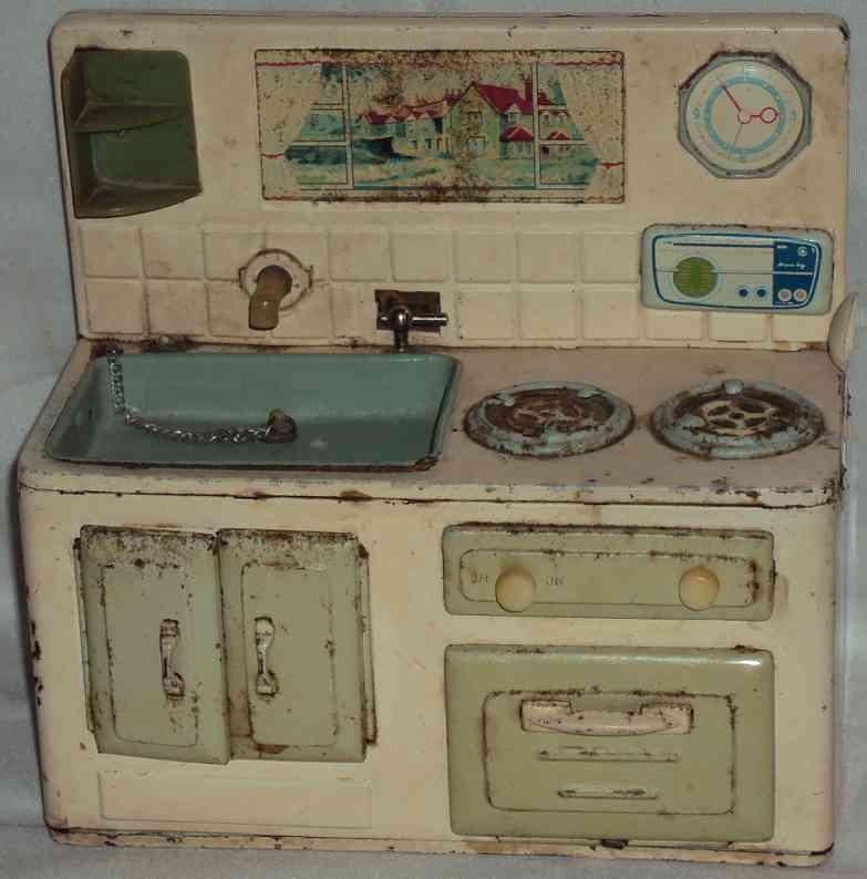 unknown puppenstubenzubehoer batteriebetriebene küche mit funktonen, wenn batterien einge