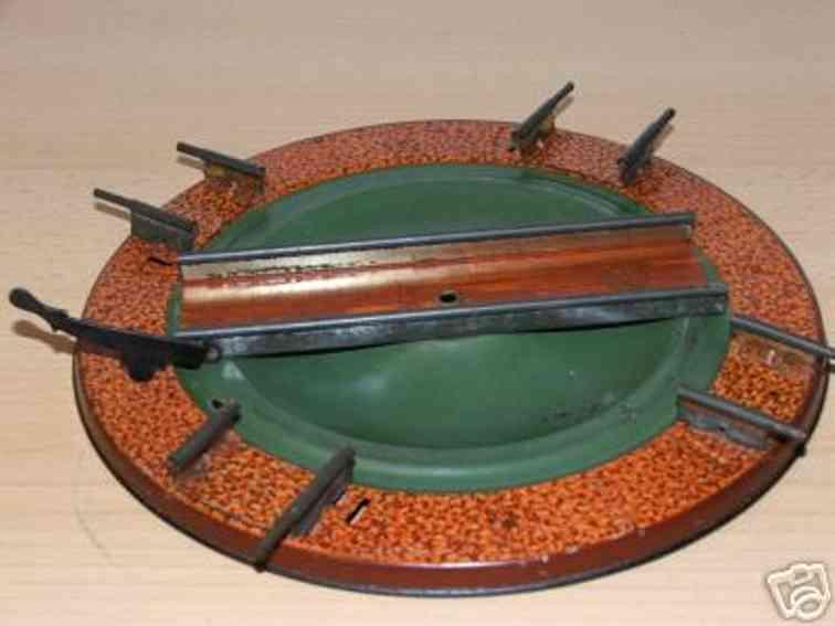 bing 10/61/0 spielzeug eisenbahn schiene strom drehscheibe mit 4 anschlüssen, mittelgleis mit festeller für