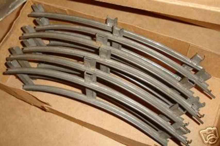 bing 10/71/0 spielzeug eisenbahn schiene strom uhrwerk-schienen für einen normalkreis aus weissblech mit 3