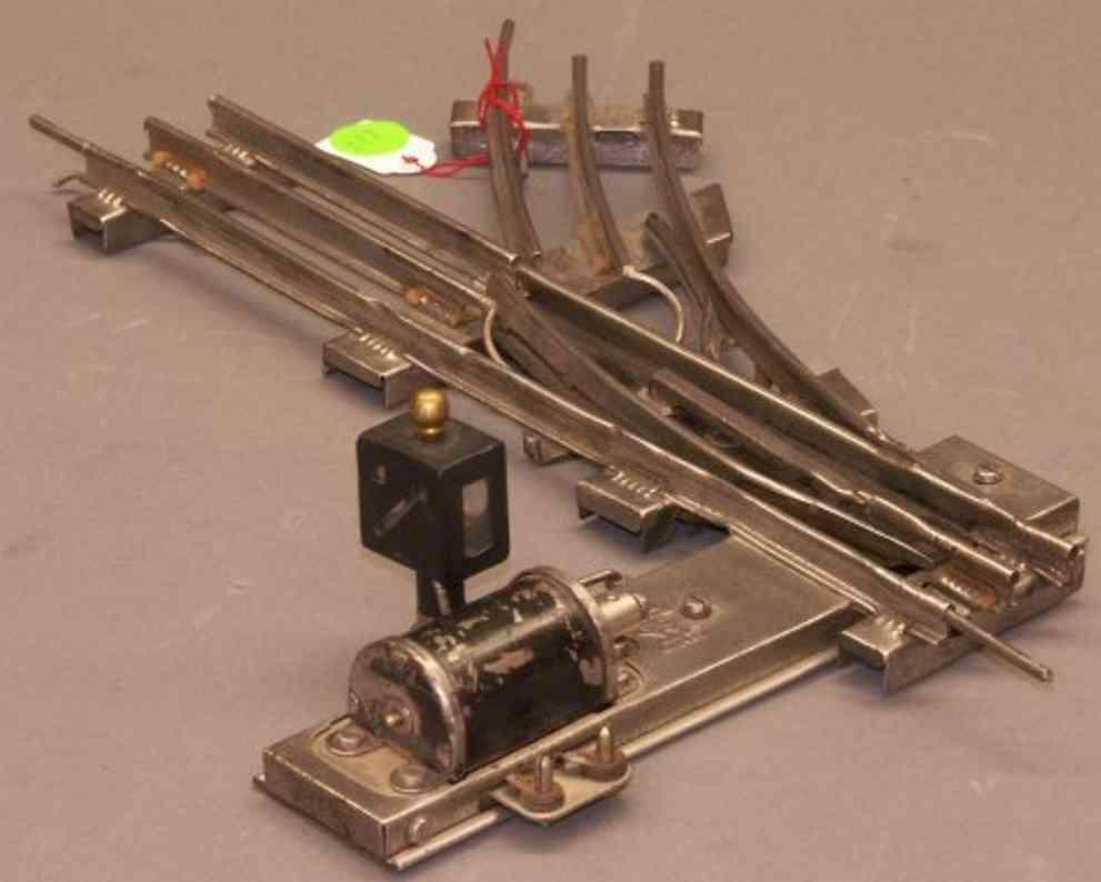 bing 12/757/0 spielzeug eisenbahn schiene strom elektromagnetische rechtsweiche mit beleuchteter laterne für