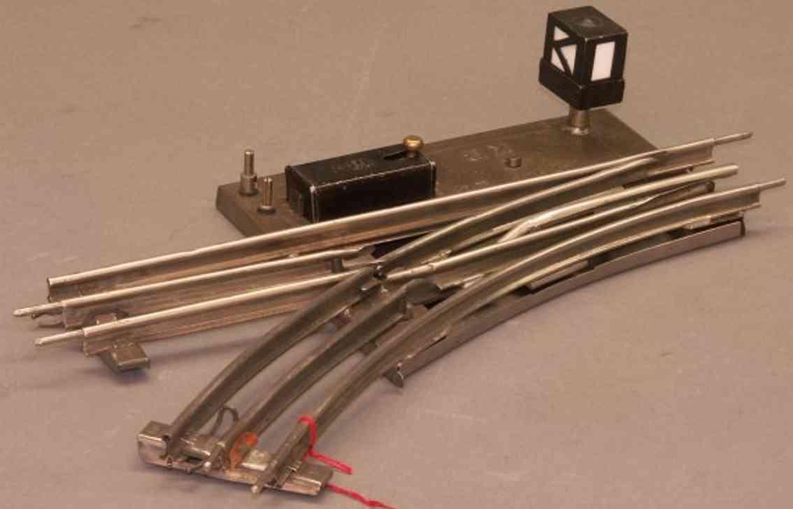 karl bub 1926/0/8 spielzeug eisenbahn elektromagnetische linksweiche laterne  spur 0