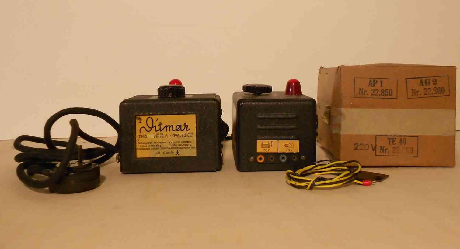ditmar te 40 22.800 railway toy transformer 40va 110 220 volts