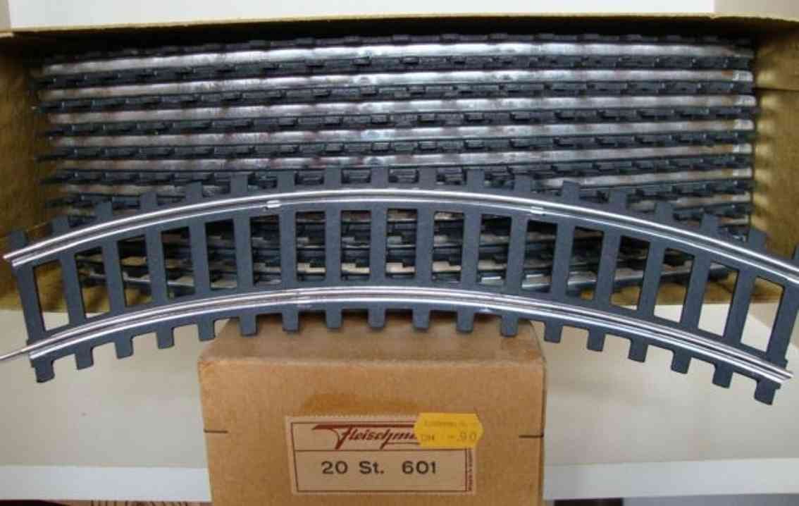 fleischmann 601 railway toy curved rails