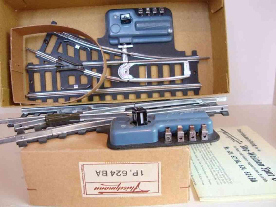 fleischmann 624 ba railway toy electro-magnetic flank pair