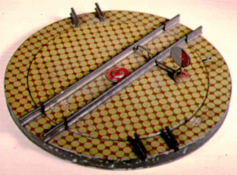 ives 146 (1906) spielzeug eisenbahn schiene strom drehscheibe mit mechanik und komplett lithografiert. durch d