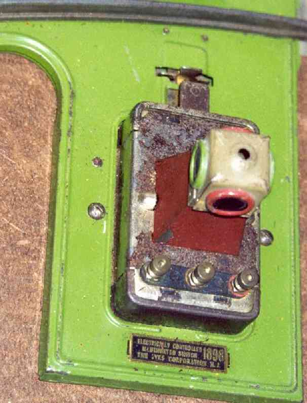 ives 1898 spielzeug eisenbahn schiene strom automatischer schalter für spur 0 und 2 wurde von lionel her