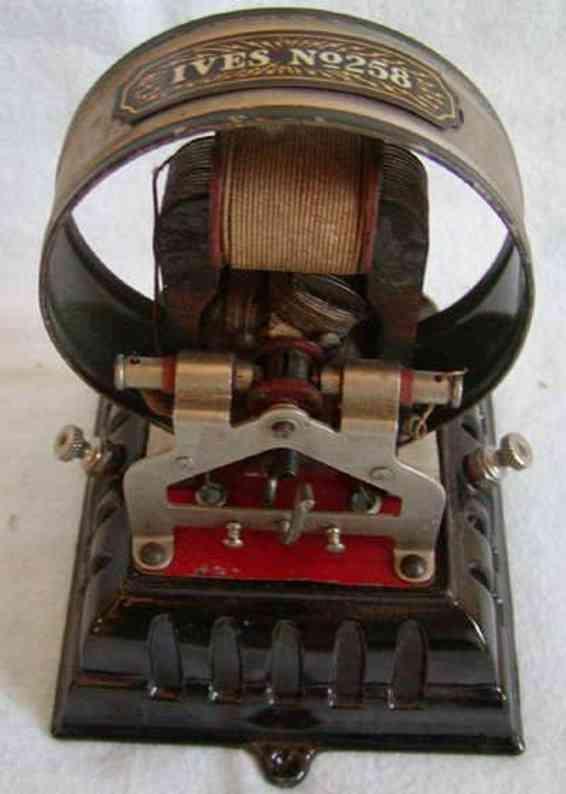 ives 258 spielzeug eisenbahn schiene strom elektro motor, dies ist der größte feststehende motor von iv
