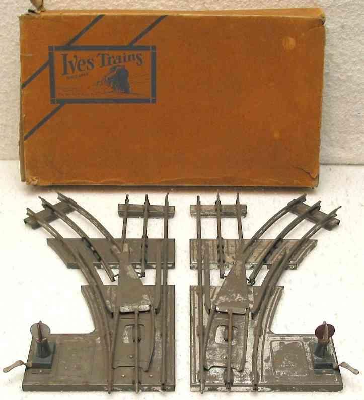 ives 2W3 spielzeug eisenbahn schiene strom manuelle weichen