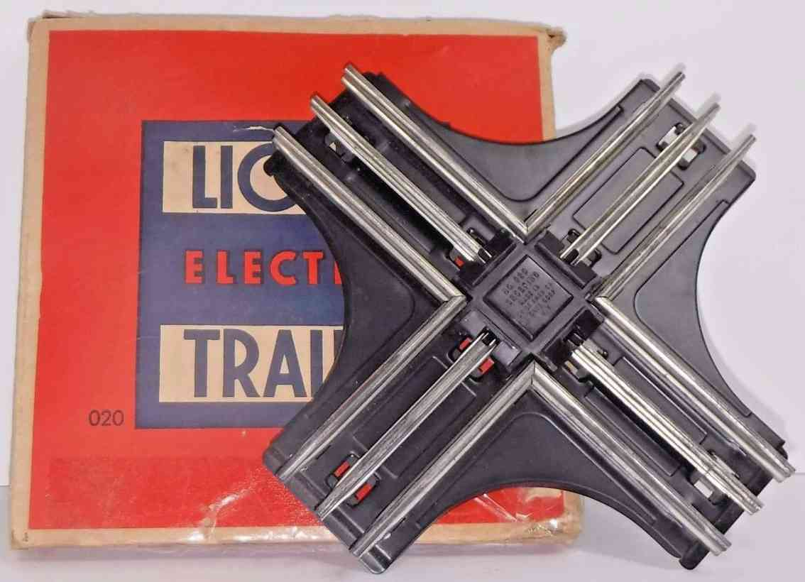 lionel 020-90  grad kreuzung metall schwarz spur 0